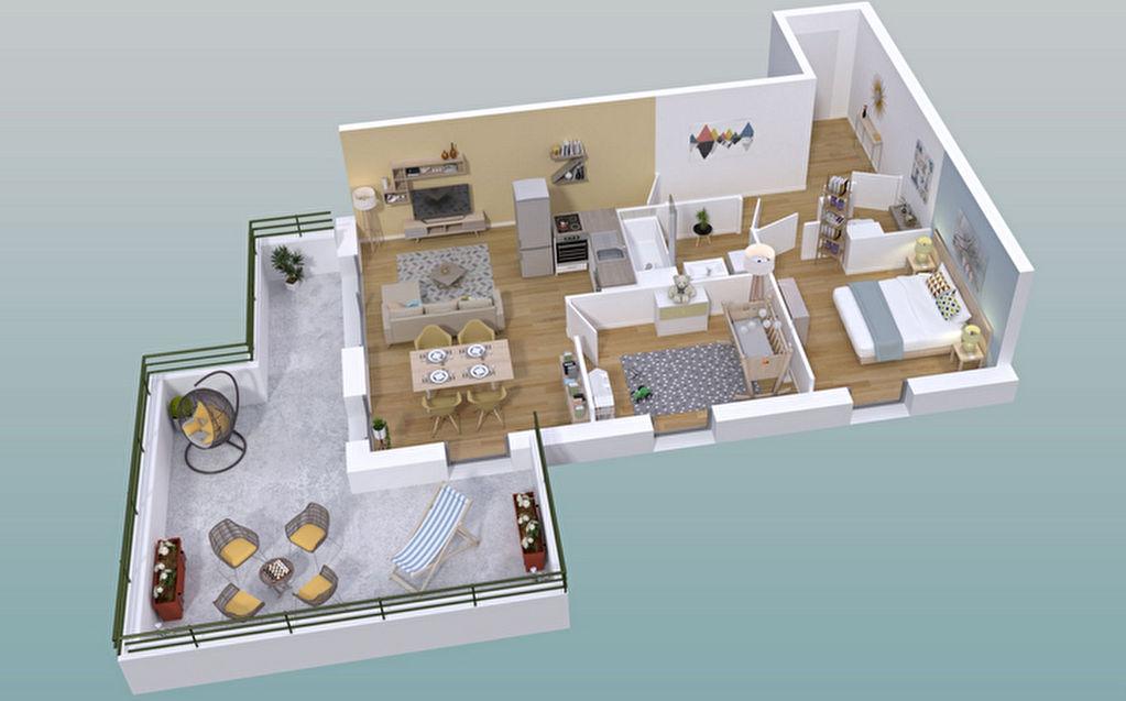 Appartement Guichen 3 pièce(s) 60,22 m2