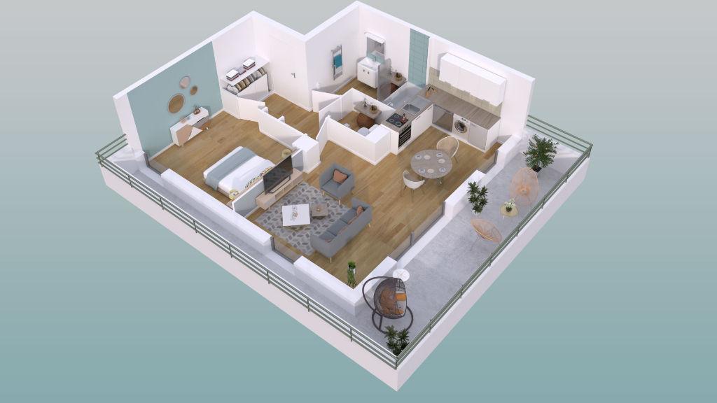 Appartement Guichen 2pièce(s) 39,93 m2